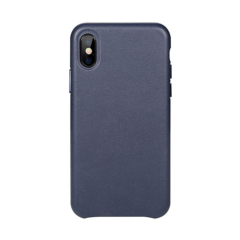 Kryt BENKS pro Apple iPhone X - kožený - tmavě modrý