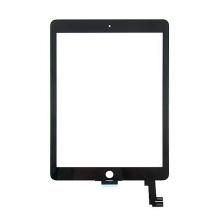 Přední dotykové sklo (touch screen) pro Apple iPad Air 2 - černý rámeček - kvalita A+