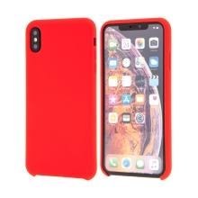Kryt pro Apple iPhone Xs Max - gumový - příjemný na dotek - červený