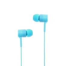 Sluchátka SWISSTEN pro Apple zařízení - špunty - ovládání + mikrofon - plast - modrá
