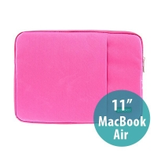 Pouzdro POFOKO se zipem pro Apple MacBook Air 11 - růžové