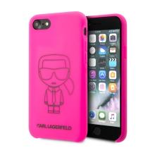 Kryt KARL LAGERFELD  Iconic pro Apple iPhone 7 / 8 / SE (2020) - silikonový - růžový