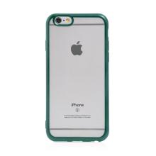 Kryt FORCELL Electro Matt pro Apple iPhone 6 / 6S - gumový - průhledný / zelený