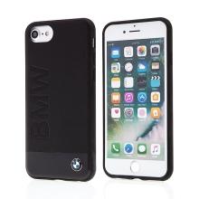 Kryt BMW pro Apple iPhone 6 / 6S / 7 / 8 - kožený - černý - motiv BMW