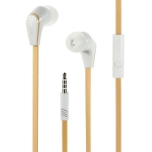 Sluchátka LANGSTON s mikrofonem a klipem pro Apple iPhone / iPad / iPod a další zařízení - champagne