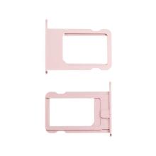 Rámeček / šuplík na Nano SIM pro Apple iPhone 5S / SE - růžový (Rose Gold) - kvalita A+