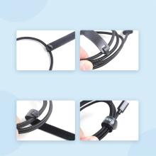 Pásek pro organizování kabelů ESSAGER - se suchým zipem - černý