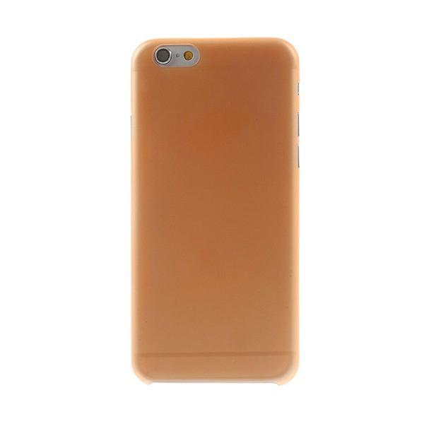 Ultra tenký plastový kryt pro Apple iPhone 6 (tl. 0,3mm) - matný - oranžový