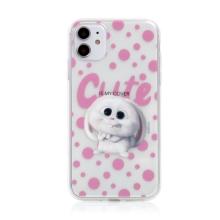 Kryt Tajný život mazlíčků pro Apple iPhone 11 - gumový - průhledný / králík Snížek