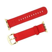 Řemínek BASEUS + spony pro Apple Watch Watch 44mm Series 4 / 42mm 1 2 3 - kožený - červený