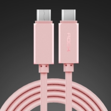 Kabel USB-C ROCK synchronizační a nabíjecí - růžový