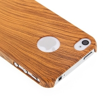 Ochranný plastový kryt pro Apple iPhone 4/4S - imitace dřeva