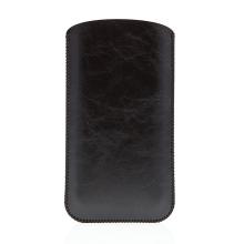 Pouzdro / obal SOYAN pro Apple iPhone 6 / 7 - umělá kůže - černé