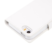 Pouzdro MERCURY Goospery pro Apple iPhone 5 / 5S - stojánek a prostor pro platební karty - bílé