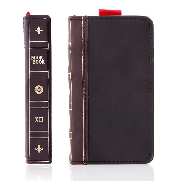 Ochranné pouzdro ve stylu staré knihy a peněženka v jednom pro Apple iPhone 4 / 4S