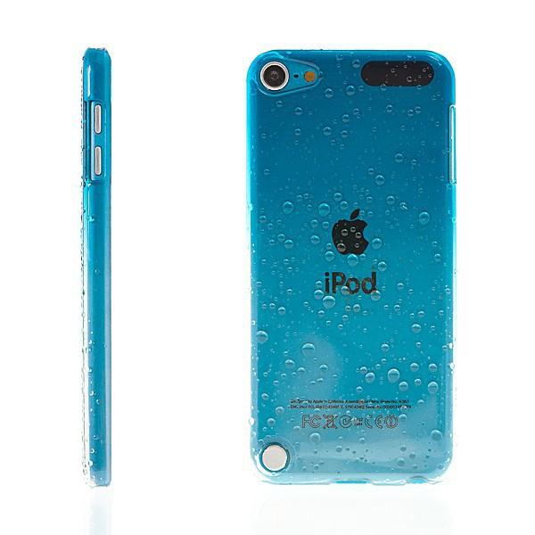 Plastový kryt pro Apple iPod touch 5.gen. - 3D dešťové kapky - modrý