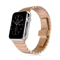 Řemínek pro Apple Watch 40mm Series 4 / 5 / 6 / SE / 38mm 1 / 2 / 3 - ocelový - Rose Gold