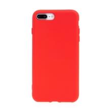 Kryt pro Apple iPhone 7 Plus / 8 Plus - příjemný na dotek - silikonový - červený