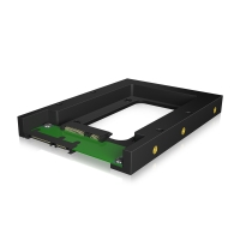"Rámeček / redukce ICY BOX IB-2538StS 2,5"" na 3,5"" SATA III pro SSD a HDD - plastový - černý"