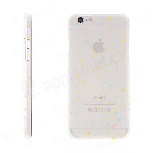 Plastový kryt pro Apple iPhone 6   6S - ve tmě svítící - barevné tečky -  matný průhledný e1485567961