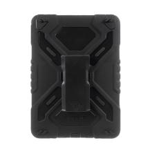 Pouzdro Pepkoo pro Apple iPad Pro 9,7 plasto-silikonové - 360° otočný stojánek a přední ochranná vrstva - černé