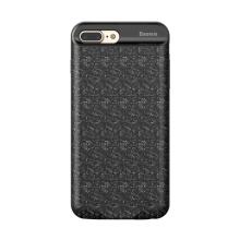 Externí baterie / kryt BASEUS pro Apple iPhone 7 Plus / 8 Plus - 7300 mAh - šrafovaná mozaika - černá