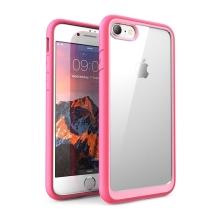 Kryt pro Apple iPhone 7 / 8 - odolné hrany - plastový / gumový - průhledný / růžový