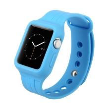 Gumový řemínek + ochranný kryt / pouzdro BASEUS pro Apple Watch 38mm Series 1 / 2 / 3 - modrý