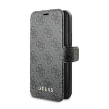 Pouzdro GUESS 4G Book pro Apple iPhone 11 Pro - umělá kůže - černé / šedé