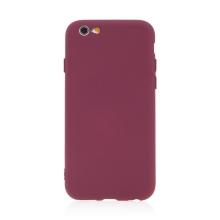 Kryt pro Apple iPhone 6 / 6S - příjemný na dotek - silikonový - vínová