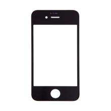 Přední sklo pro Apple iPhone 4S - černý rámeček - kvalita A