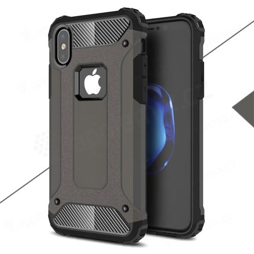 Kryt pro Apple iPhone X - odolný - plastový / gumový - bronzový