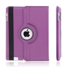 Pouzdro / kryt pro Apple iPad 2. / 3. / 4.gen - 360° otočný držák - tmavě fialové