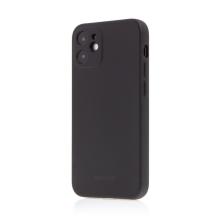 Kryt SWISSTEN Soft Joy pro Apple iPhone 12 mini - příjemný na dotek - silikonový - černý