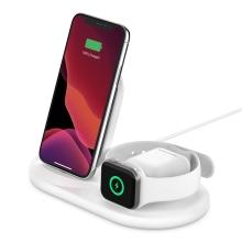 Nabíjecí stojánek / stanice 3v1 BELKIN Power House pro Apple iPhone / Watch / AirPods - MFi - bílý