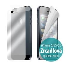 Ochranná fólie pro Apple iPhone 5 / 5C - zrcadlová - přední a zadní
