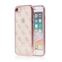 Kryt GUESS pro Apple iPhone 6 / 6S / 7 / 8 - gumový - průhledný / Rose Gold