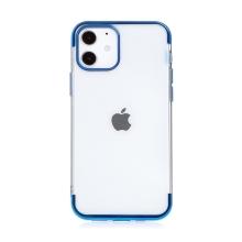 Kryt FORCELL Electro pro Apple iPhone 12 / 12 Pro - gumový - průhledný / modrý