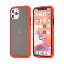 Kryt pro Apple iPhone 11 Pro - guma / plast - barevná tlačítka - červený