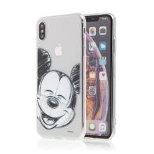 Kryt pro Apple iPhone Xs Max - Mickey - průhledný - gumový