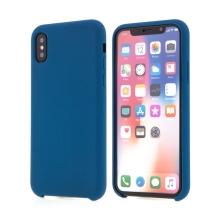 Kryt pro Apple iPhone Xs - gumový - příjemný na dotek - tmavě modrý