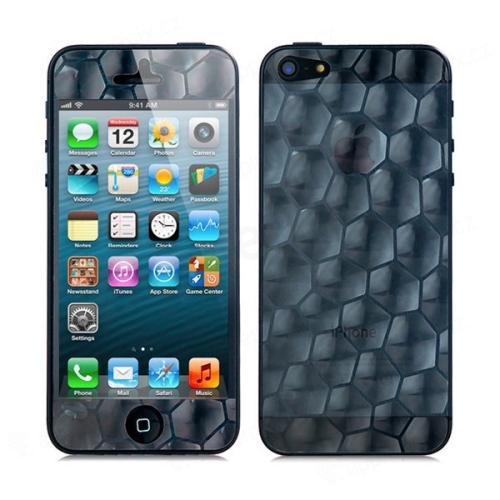 3D ochranná fólie pro Apple iPhone 5 / 5C - se vzorem nepravidelných tvarů (přední + zadní)