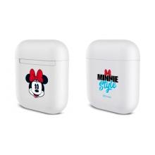 Pouzdro / obal DISNEY pro Apple Airpods - plastové - bílé - Minnie style