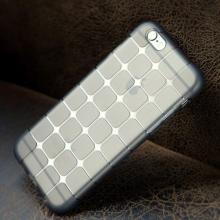 Gumový kryt ROCK pro Apple iPhone 6 Plus / 6S Plus - 3D kostky - průhledný