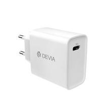 Nabíječka / EU adaptér DEVIA pro Apple iPhone / iPad - USB-C - 20W - bílá