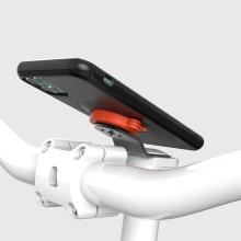 Držák na kolo Gear Lock pod zátku Ahead vidlice + kryt pro Apple iPhone 7 / 8 / SE (2020) - plastový - černý