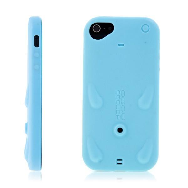 Ochranný gumový kryt pro Apple iPhone 5 / 5S / SE se stylusem /stojánkem - světle modrý