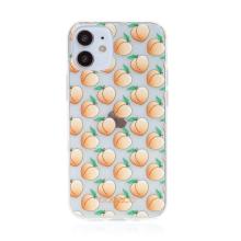 Kryt BABACO - pro Apple iPhone 12 mini - gumový - průhledný - broskvičky