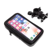 Sportovní pouzdro na kolo / motorku pro Apple iPhone - se zipem - voděodolné - černé