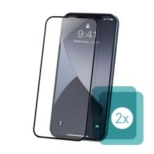 Tvrzené sklo (Tempered Glass) BASEUS pro Apple iPhone 12 mini - přední - 2,5D - čiré - 0,23mm - 2 kusy